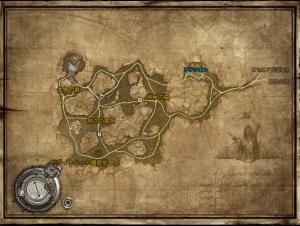 TERAの地図。トラリオン周辺。