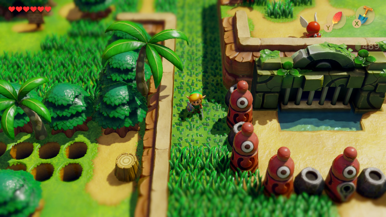 夢をみる島 ゲーム画面_フィールドを歩くリンク