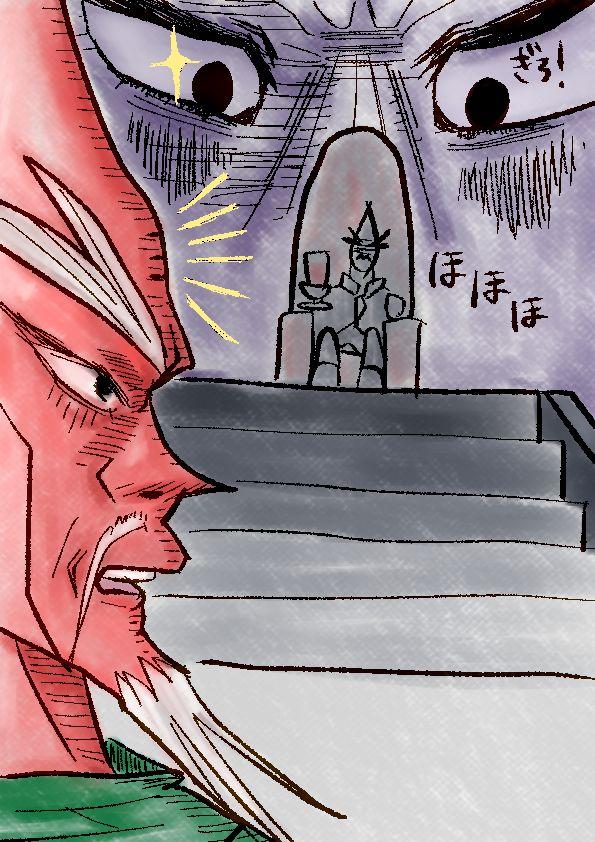 謎の大物と対峙する勇者焼肉王